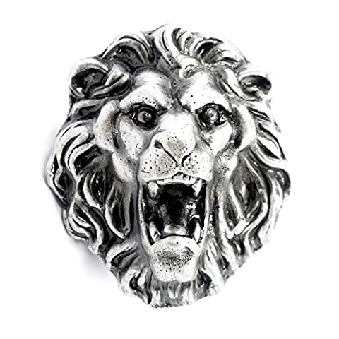 MFYS Popular Antique Animal Shape Knobs Kitchen Knobs Drawer Pull Handles (The Lion)
