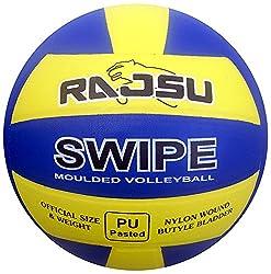 RAJSU Swipe Polyether Thane Volleyball (Multi-Color)