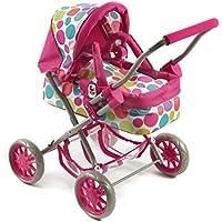 """Bayer Chic 2000 555 17 - Carrozzina per bambole """"Smarty"""", colore: Rosa, motivo: Bolle"""