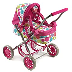 Idea Regalo - Bayer CHIC 2000 555 17 - Carrozzina per Bambole Smarty, Colore: Rosa, Motivo: Bolle