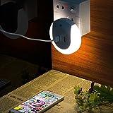 UVISTAR Automatisches Nachtlicht mit Dämmerungssensor, LED Steckdosenlicht, Dual USB Ladegerät, Aufladar für Smartphone PC Pad, für Kinderzimmer Babyzimmer, Tragbar und zum Mitnehmen, Kaltweiß
