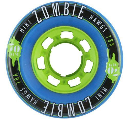 Preisvergleich Produktbild Mini Zombie Longboard Skateboard Landyachtz Wheels Blue 70Mm/78A Set Of 4 by Skateboard