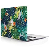 iDOO MacBook Schutzhülle / Hard Case Cover Laptop Hülle [Für MacBook Air 13 Zoll: A1369/A1466] - matt, Tropische Palmen Blätter
