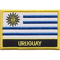 De la bandera de Uruguay Rectangular parche bordado insignia/Sew encendido o ropa - diseño