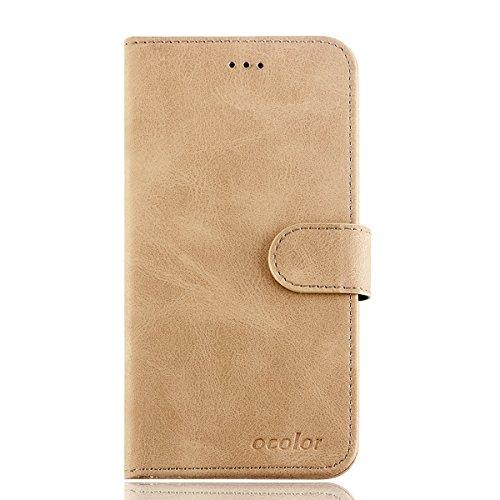 95Street Handyhülle für Leagoo S9 Schutzhülle Book Case für Leagoo S9, Hülle Klapphülle Tasche im Retro Design mit Praktischer Aufstellfunktion - Etui Gelb