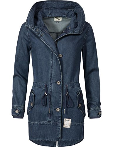 Khujo Damen Ãœbergangs-Jacke Baumwoll Parka YM-Shinta Just Denim Raw Denim Gr. S
