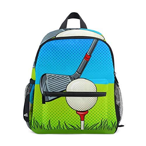CPYang Kinder Rucksack Sport Club Golf Ball Schultasche Kindergarten Kleinkind Vorschule Rucksack für Jungen Mädchen Kinder