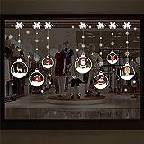 F and Z Decorazioni di Natale Adesivi per vetri Adesivi in Vetro di Babbo Natale Pupazzo di Neve di Babbo Natale (Style R)