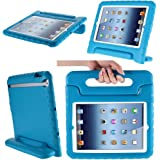 i-Blason Apple iPad Air / iPad 5 ArmorBox Kido Series Light Weight Super Protection Convertible Stand Cover Case (iPad Air (5th Generation), Blue)