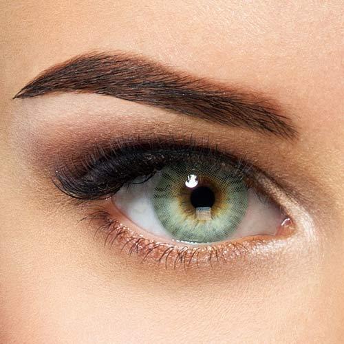 Natürliche Hidrocor farbige Kontaktlinsen Topaz - türkis blaue Jahreslinsen ohne Stärke (2 Stück)