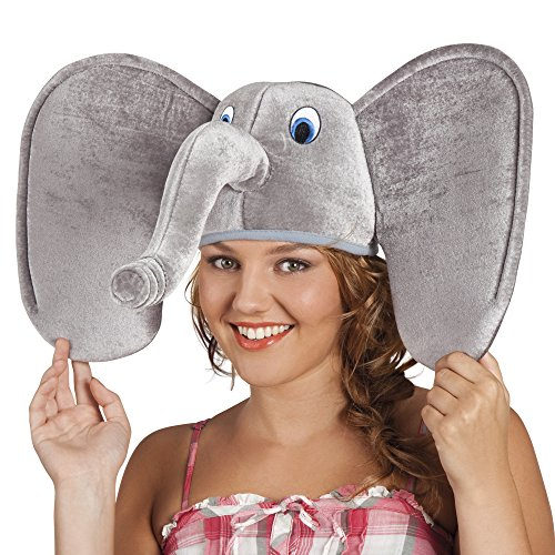 Panelize Elefant Elefantenhut Jumbo Dschungel Zoo Safari Zirkus - Kinder Dschungel Kostüm