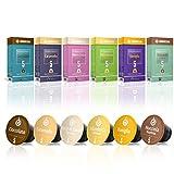 Gourmesso Flavour Box – 60 Nespresso kompatible Kaffeekapseln – 100% Fairtrade – 6 ausgefallene Geschmacksrichtungen