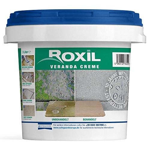 Roxil Veranda Creme - 10 Jahre Witterungsschutz für Veranden und gepflasterte Flächen - 3 Liter