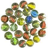 Fancy Castle Glass Marbles/kanche for Your Kids (45 Pieces)