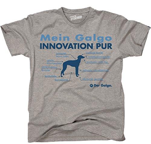 Siviwonder Unisex T-Shirt INNOVATION GALGO TEILE LISTE Hunde lustig fun Sports Grey