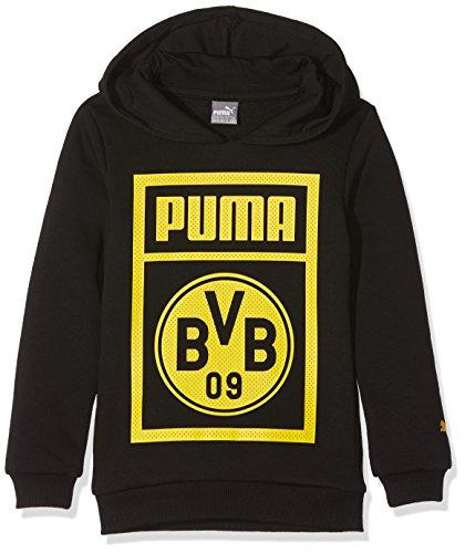 PUMA Kinder BVB Shoe Tag Hoody Jr Sweatshirt, Black, 164 -