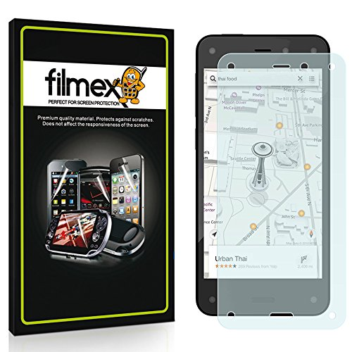 3 x Filmex Displayschutzfolie Amazon Fire Phone - AntiReflex (antireflektierend) Aufkleber Schutzfolie, Premium-Qualität Japan PET-Folien, Lebenslange - Cover Japan Phone