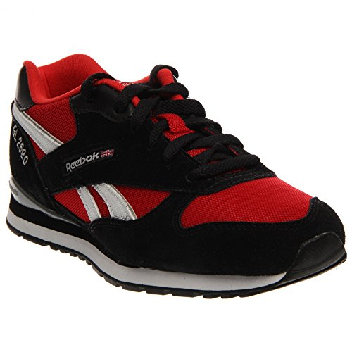 Reebok GL 2620 Black White Red Youths Trainers Black Red
