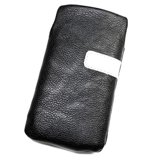 Schutzhülle Tasche Lederoptik schwarz L für Nokia E5–00