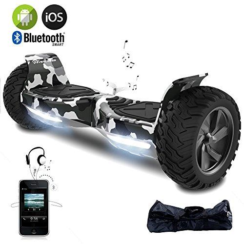 """EverCross Challenger Basic 8,5"""" Hoverboard SUV App Elektro Scooter E-Balance E-Skateboard Elektroroller (Army Green-D)"""