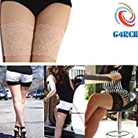 G4RCE® Women Girls Non Slip Lace Elastic Sock Anti-Chafing Thigh Bands Prevent Thigh Chafing Sock 4 Sizes UK