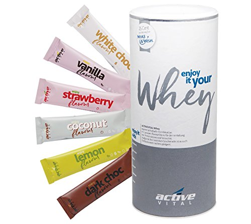 ACTIVEVITAL Whey-Protéine Neutre 450g +18 batôns de saveurs délicieuses