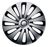 16 Zoll Bicolor Radzierblenden SEPANG (Silber/Schwarz). Radkappen passend für fast alle OPEL wie z.B. Astra J