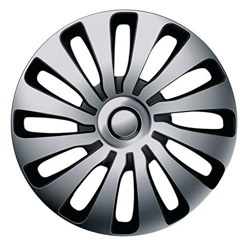 15 Zoll Bicolor Radzierblenden SEPANG (Silber/Schwarz). Radkappen passend für fast alle OPEL wie z.B. Corsa D