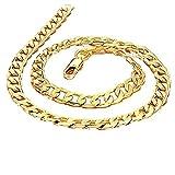 AnaZoz Collar de Hombre Collar de Cadena Collar Oro Hombre Collar Para Hombre Collar Chapado en Oro Hombre Collar Longitud 60cm