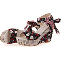 ZARLLE Zapatos De Mujer Shake Sandalias De Verano De Moda Floral Zapatos De TacóN Bajo Grueso Sandalias Casuales Sandalias De TacóN Bajo Zapatillas De Plataforma De Tobillo