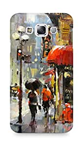 Amez designer printed 3d premium high quality back case cover for Samsung Galaxy E7 (City street rain painting)