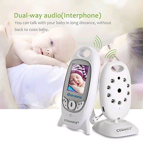 Babyphone mit Kamera Baby Überwachung Digital dual Audio Funktion wireless Baby Monitor (Temperatursensor, Schlaflieder, Nachtsicht, Gegensprechfunktion), 2.0 Zoll LCD - 3
