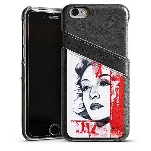 Apple iPhone 6 Housse Étui Silicone Coque Protection Zarah Leander Dessin Femme Étui en cuir gris