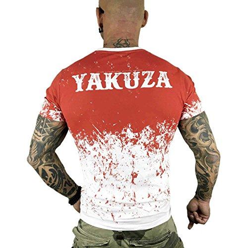 Yakuza Original Herren Splatter T-Shirt Weiß