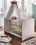 Main Möbel Babybett Kiddi Kiefer Massiv weiß