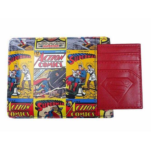 DC 80 A199 Superman Bande dessinée Imprimé Portefeuille avec porte-cartes détachable