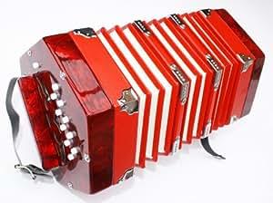 Cherrystone Accordéon concertina 2 x 10 boutons rouge
