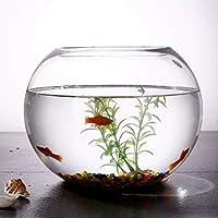 JIANGU, pecera, vaso creativo redondo pecera, salón pequeño cuenco de pez dorado, escritorio de oficina mini pecera