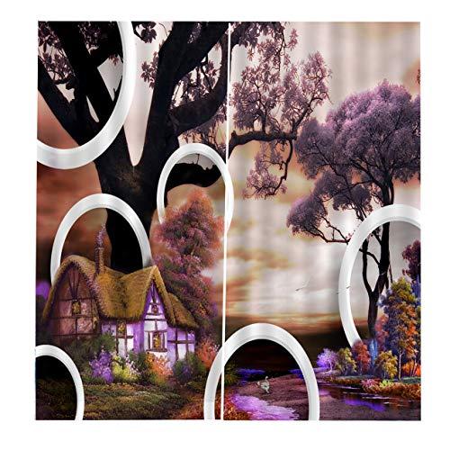 EdBerk74 BJQ-1465 Cortina 150 * 166 Flores florales Impresión Cortinas de la Ventana Decoración para EL hogar Dormitorio Sala de Estar-Color