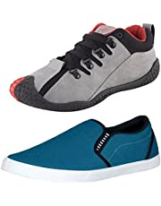 Chevit Men's Canvas Sneakers - Pack of 2