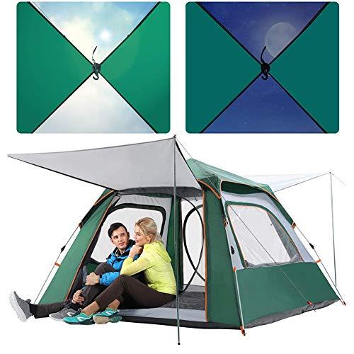 Zelte für 3-4 Personen Camping Instant Setup Zelt Double Layer Wasserdicht Automatische Pop-up-Zelt UV-Schutz Tragbare Kuppel Strandzelt Leichte Sonnenschutz (Instant Zelte)