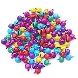 #9: Silk Thread Jewellery Making Jingle Bells Beads Charms 100 Pcs 8mm Multi Color