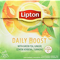 Lipton Green Tea Daily Boost Packung, 3er Pack (3 x 32 g)