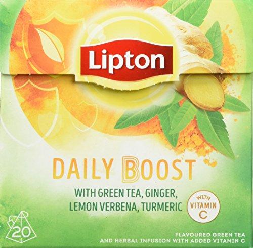 Lipton Grüner Tee Daily Boost Pyramidenbeutel, 20 Stück, 3er Pack