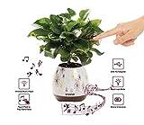 Musik Blumentopf, Wireless Bluetooth-Lautsprecher, LED Licht Smart Touch Musik Blumentopf von Multicolor Nachtlicht, Play Piano Musik auf eine reale Anlage mit bunten LED-Leuchten