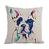 bestseason Hund Art Watercolor Kissen Fällen 30,5x 50,8cm/30von 50cm Best Wahl für Schlafzimmer Deck Stuhl, Mutter, Ihr Paare Büro mit Twin Seiten