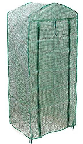 Gewächshaus Abdeckung, Wasserdicht und Wind-Widerstand und Tragbare Robustes Design Ideal für Indoor Outdoor Geburtstag Chrismas Geschenk (4 Tier OHNE Regale)