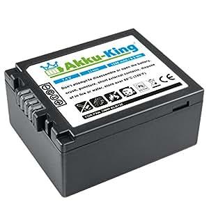 Akku-King Akku für Panasonic DMC-G1, DMC-G2, DMC-G10, DMC-GF1, DMC-GH1 - ersetzt DMW-BLB13, DMW-BLB13E, DMW-BLB13PP - Li-Ion 1250mAh