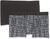 Skiny Herren Hipster Monochrome Pant 2er Pack Mehrfarbig (Blackcheck Selection 1867) Small