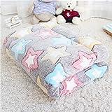 Chunchun Comfort Fluffy Pet Puppy Dog Cat Blanket, Premium Fleece Soft Warm Pet Mat for Cama de sofá de Coche 60 * 40 cm ( Color : Colored Stars , Size : 90*70cm )